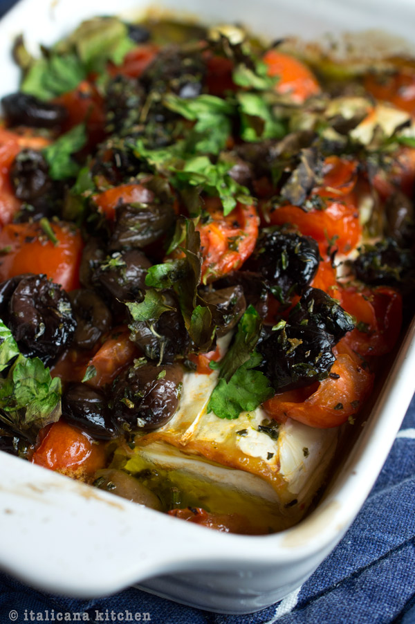 Baked-Goat-Cheese-with-Tomatoes-and-Olives-3