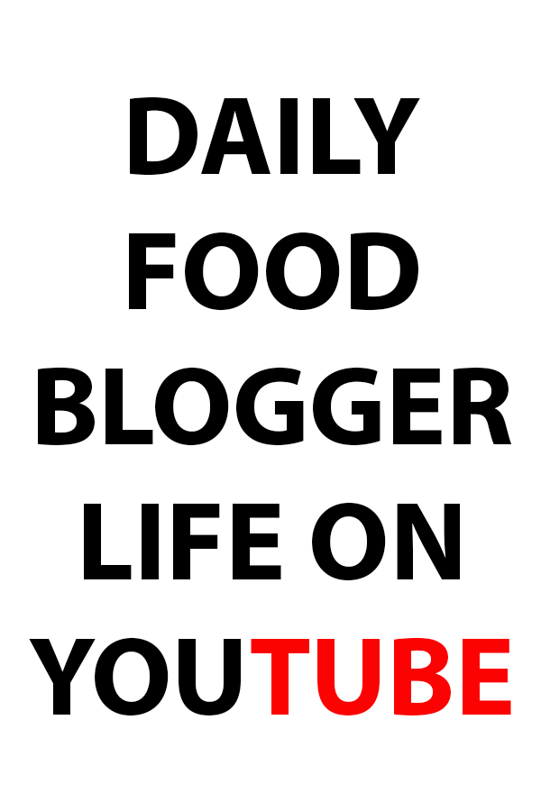 My Food Blogger Life on YouTube