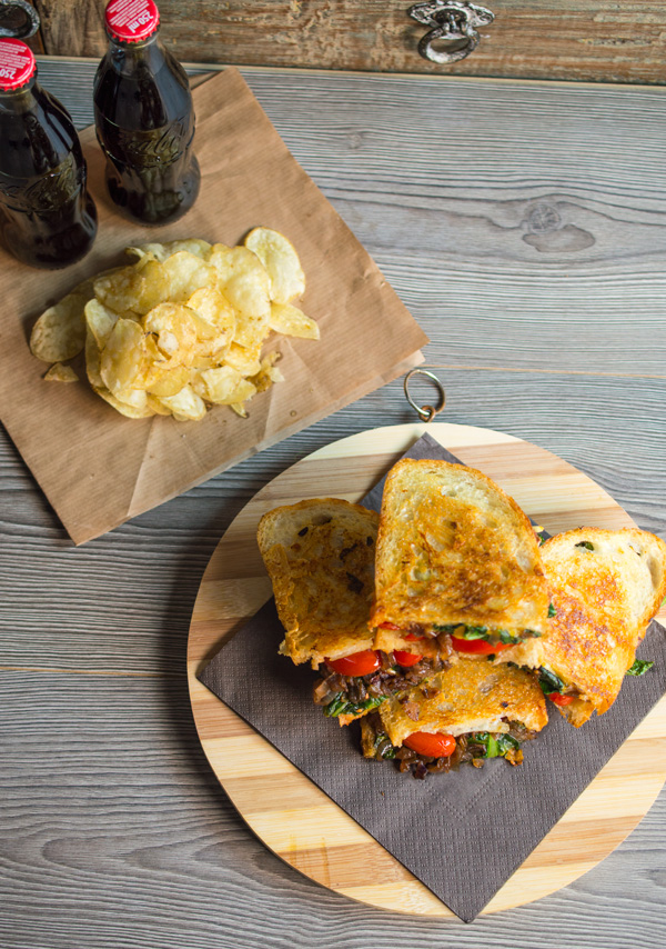 You will love this chard and caramelised balsamic vinegar grilled cheese sandwich