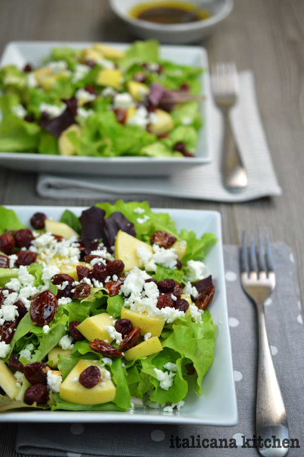 Caramelized-Almond-Apple-Dried-Cranberry-And-Feta-Salad