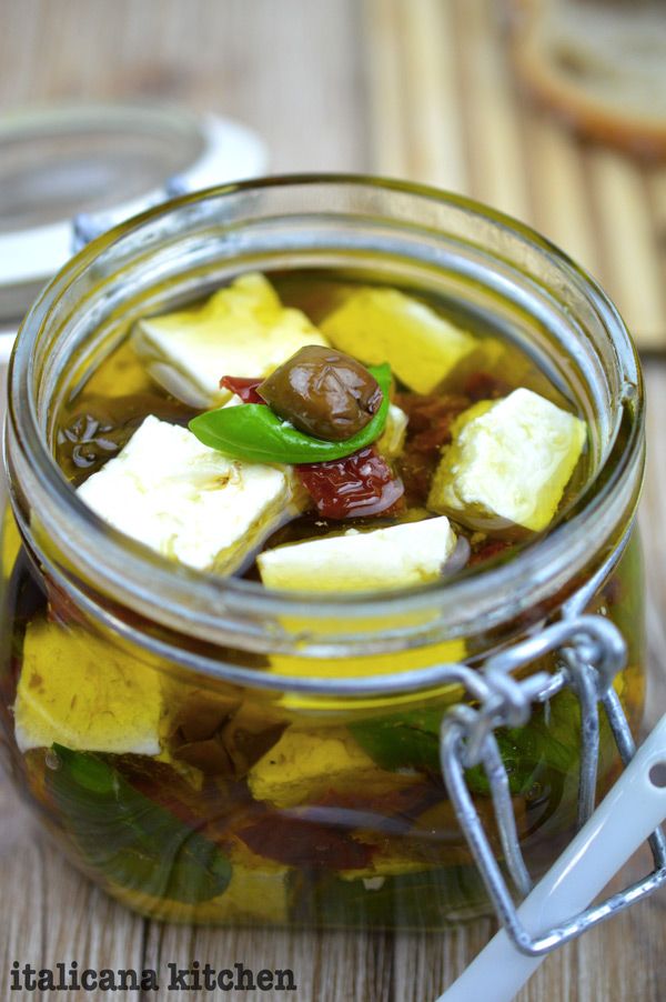 Marinated Feta, Basil, Taggiasche Olives and Sun-Dried Tomatoes