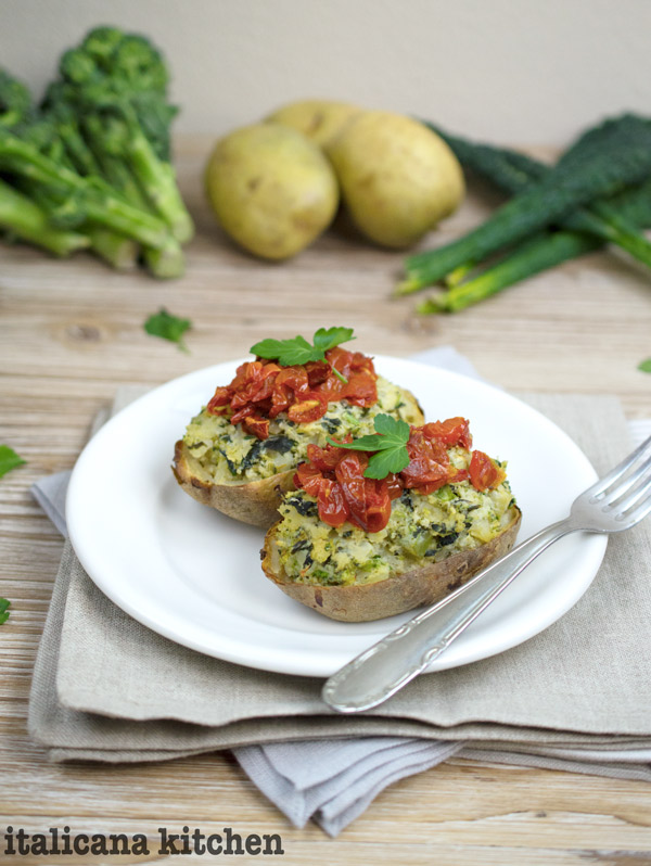 Broccoli and Kale Twice Baked Potatoes