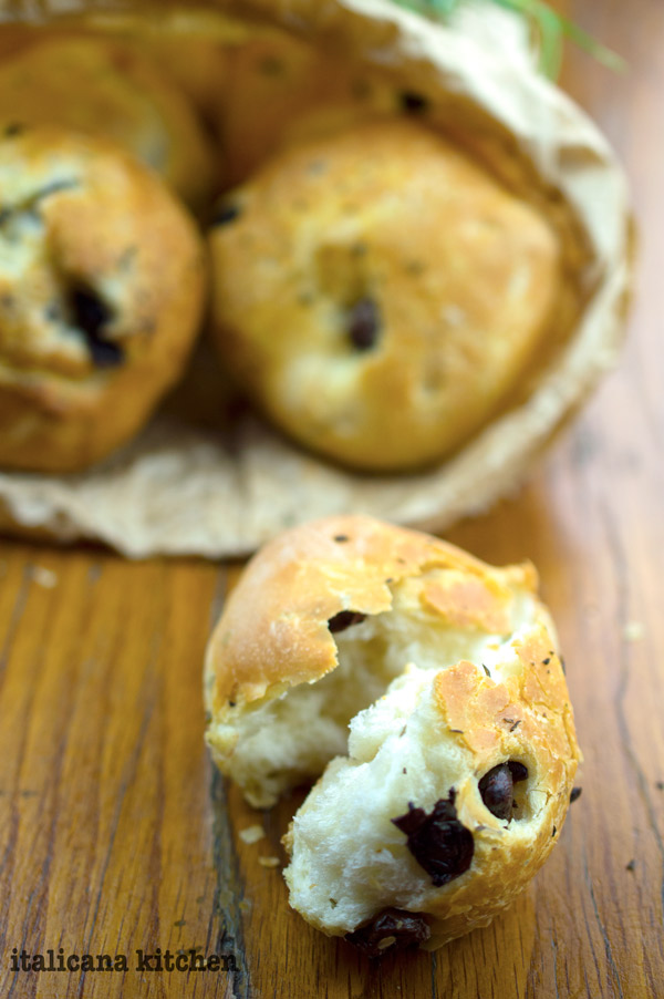 Rosemary and Taggiasche Olive Dinner Rolls