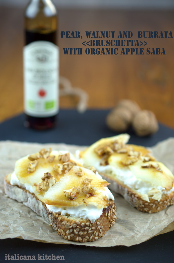 Pear-Walnut-And-Burrata-Bruschetta-With-Organic-Apple-Saba