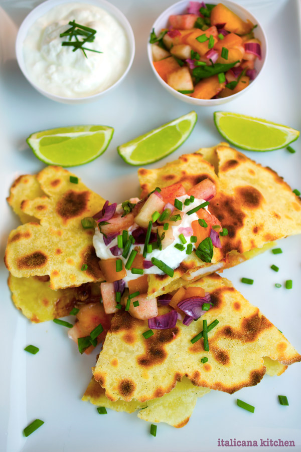 Shrimp-Quesadilla-with-Mango-Sauce