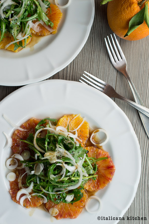Arugula Salad with Blood Oranges and Green Onions