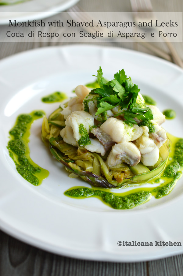 Monkfish-with-Shaved-Asparagus-and-Leeks