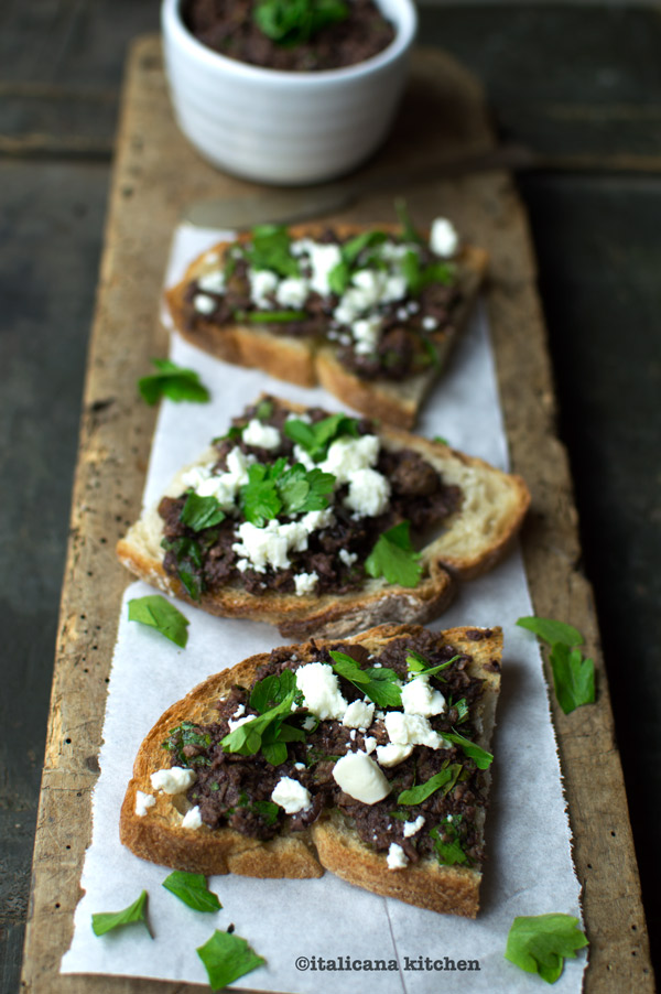 Bruschetta-with-Taggiasche-Olive-Pesto-and-Feta