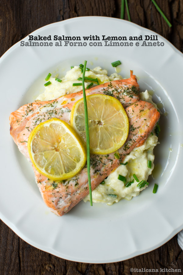 Baked Salmon with Lemon and Dill