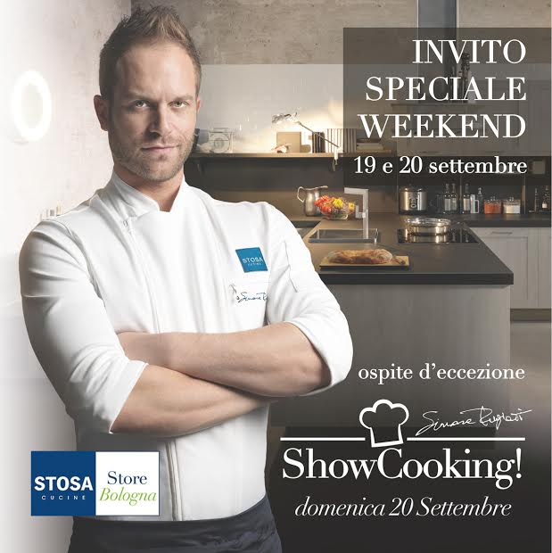 Cooking Show with lo Chef Simone Rugiati at Stosa Cucine, Bologna
