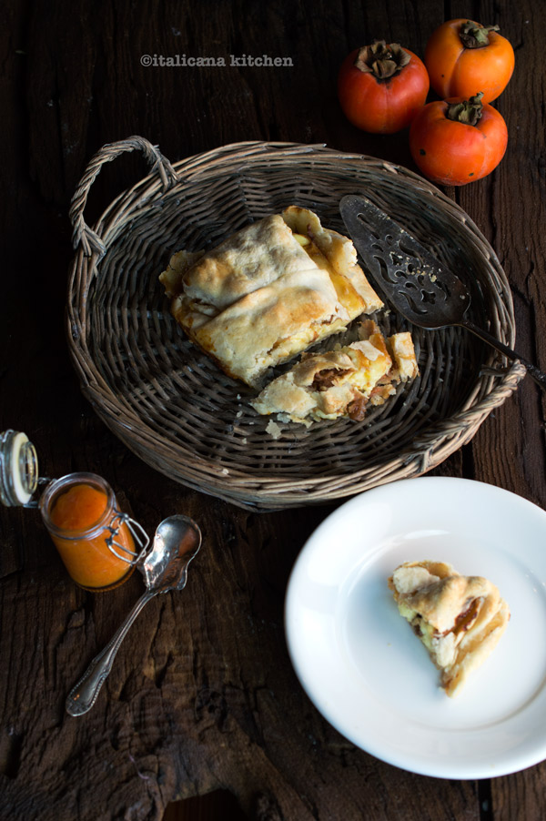 Baked-Brie-with-Persimmon-Puree-and-Walnuts