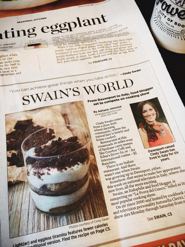 Cindy Swain on The Spokesman-Review